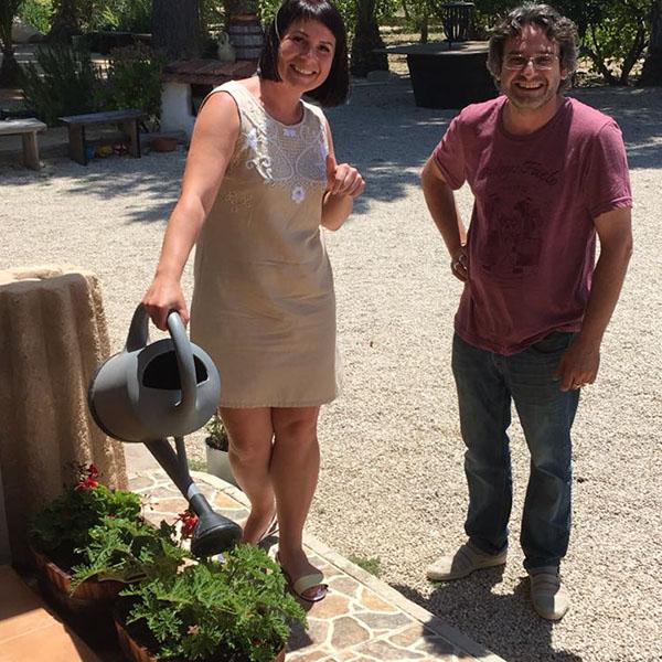 На винодельне Фаэло. Очаровательная Наташа с хозяином винодельни